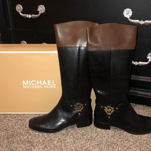 Michael kors leather boots sz 11 NWT